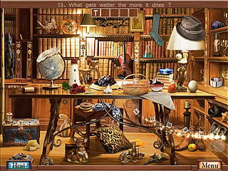 Hidden Object Crosswords room