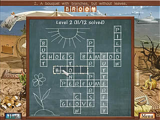 Hidden Object Crosswords task