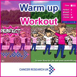 Race for Life Warm-up Workout
